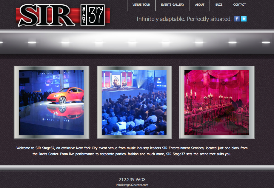 A new site for www.stage37events.com