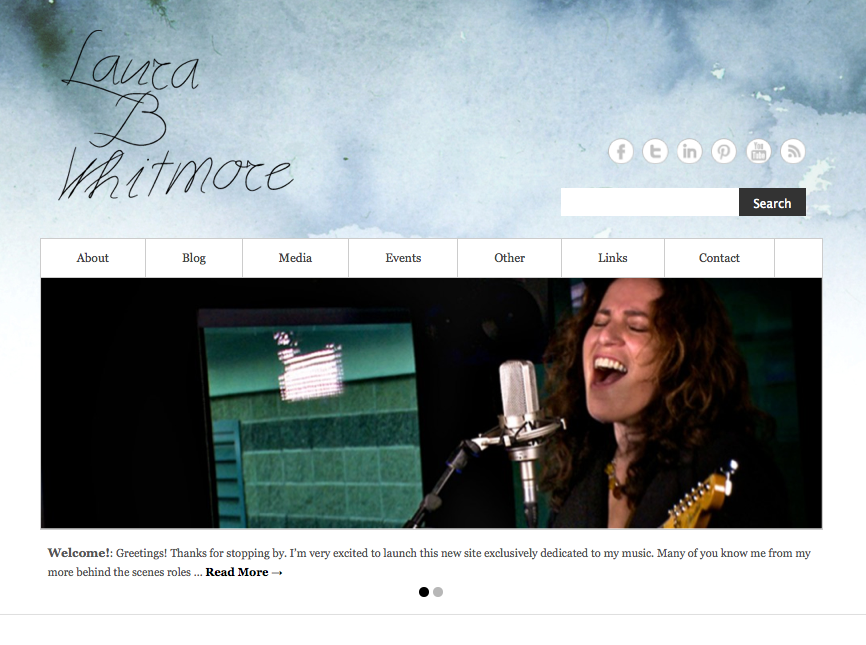 New website for www.laurabwhitmore.com