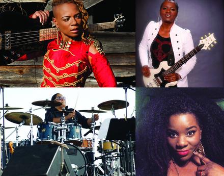 Rock Sugah members Divinity Roxx (top left); Kat Dyson (top right); Benita Lewis (bottom left); and Lynette Williams (bottom right).