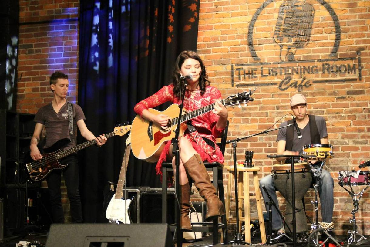 Singer-songwriter Bryce Hitchcock performs during the 2015 Summer NAMM Showcase at The Listening Room Cafe in Nashville, Tenn.